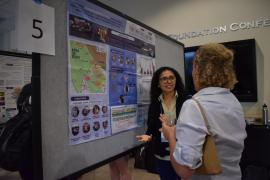 Monday's poster session highlighted the diverse work of the NatCap network. Photo Credit: Laura Kwong